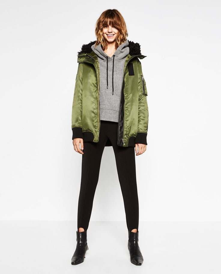 LONG HOODED BOMBER JACKET-View all-OUTERWEAR-WOMAN | ZARA United States