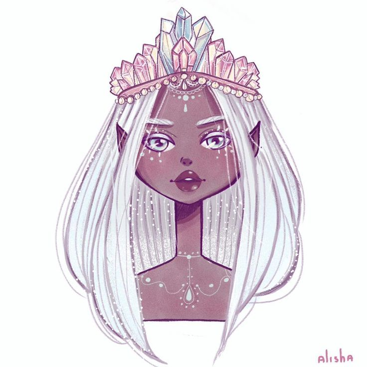 "(@alishaillustration) ""My little crystal queen """