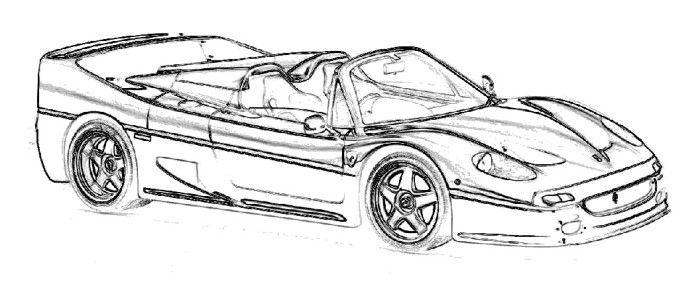 Ferrari F50 2011 Coloring Page