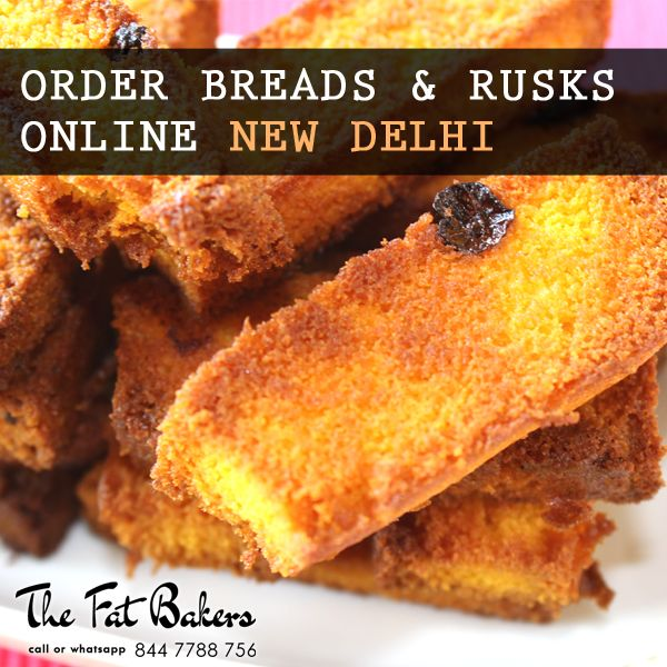 Order Breads & Rusks Online in New Delhi From the Fat Bakers- Best Price Shop & Home Delivery Service Also Available.  Our rusks are specially made with best quality wheat flour. We add many more flavors to make our rusks more delicious and crispy for very long time.  Call or WhatsApp +91- 844 7788 756 or Visit: - http://thefatbakers.com/bread-n-rusks-in-new-delhi.html