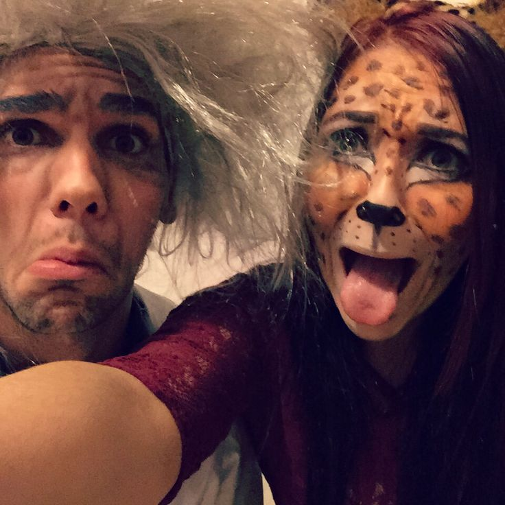 Einstein and leopard make up. #makeup #leopard #einstein #halloween #carneval