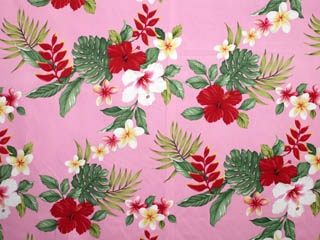 CA1539 - 100% Cotton Fabric: All-Over Hawaiian Print Fabric