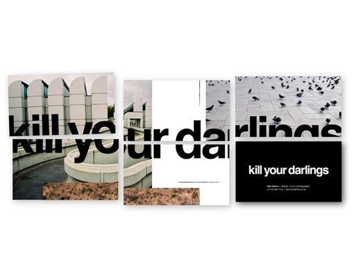 Kill your Darlings business cards #Room13Design #corporateidentity #businesscards