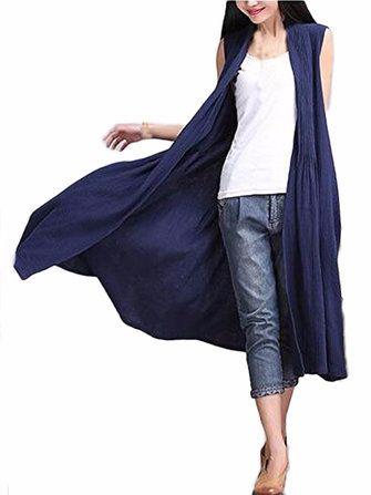 #Banggood Элегантные Женщины сплошного цвета без рукавов Кардиган (1124610) #SuperDeals
