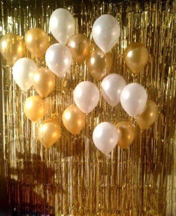 Gold Foil Fringe Curtain Gold Streamers Fringe Backdrop Gold Backdrop Golden, 2M Backdrop Decorations for Wedding Holiday Celebration for Foil Fringe Curtain