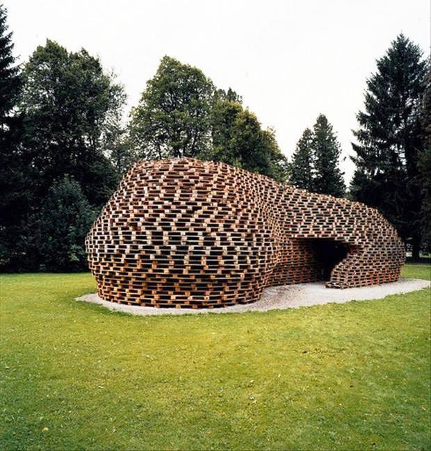 Cabaña  de pallets