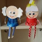 paper cup grandparents day craft
