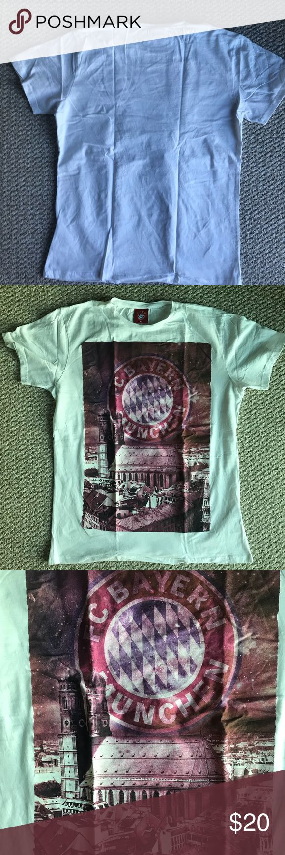 Official Bayern Munich fan T-Shirt Never worn white t-shirt. No stains on it in great condition Bayern Munich Shirts Tees - Short Sleeve