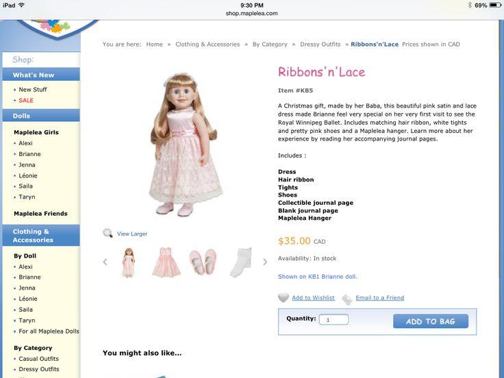 Fancy pink ribbon dress $35