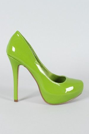 Lime green shoes!