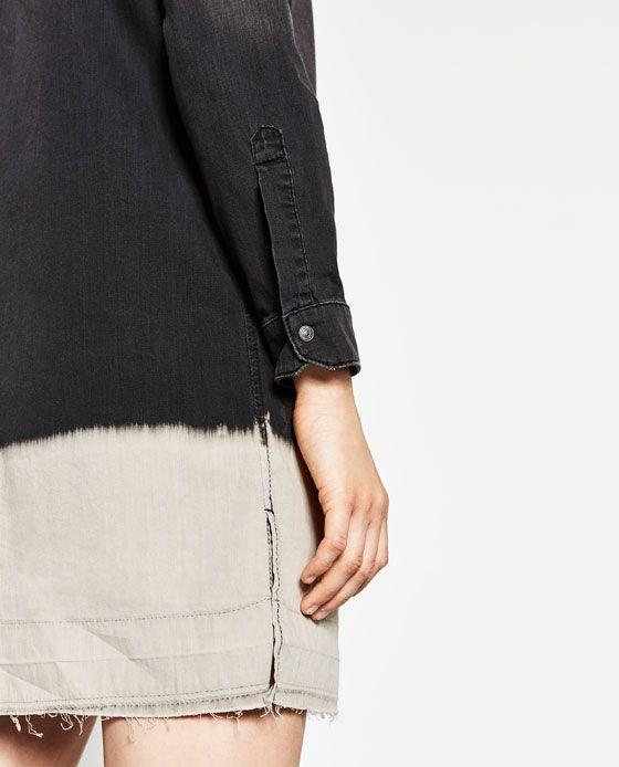 Image 6 of LONG DENIM SHIRT from Zara