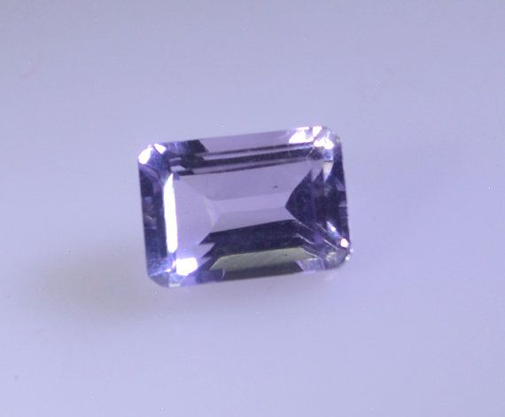 Amethyst Gemstone, Faceted cut, Emerald Cut Shape, 1 Pc, Natural Amethyst, 5x7 mm, Gemstones, Emerald Cut Amethyst, Stone for ring. This loose Gemstone
