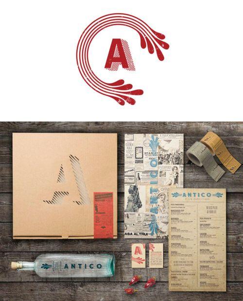 Beautiful branding for the BEST pizza in Atlanta, GA: Antico