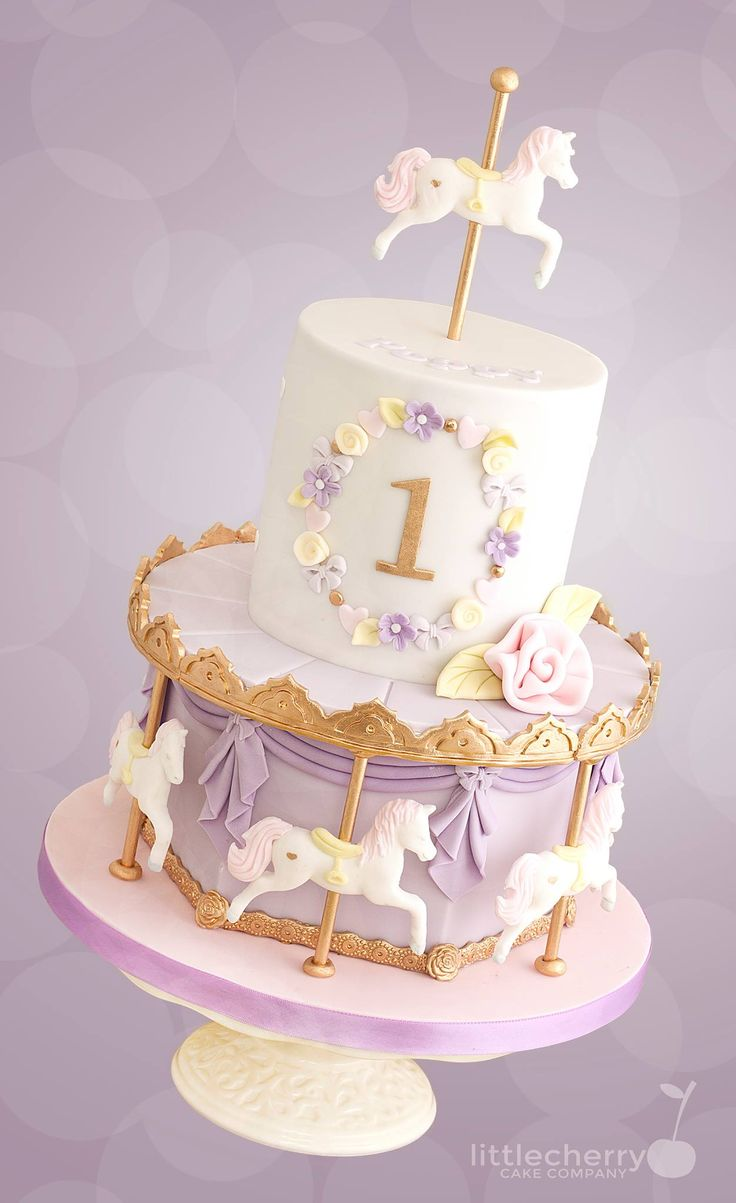 carousel cake Carousel cake, Birthday cake kids, 1st