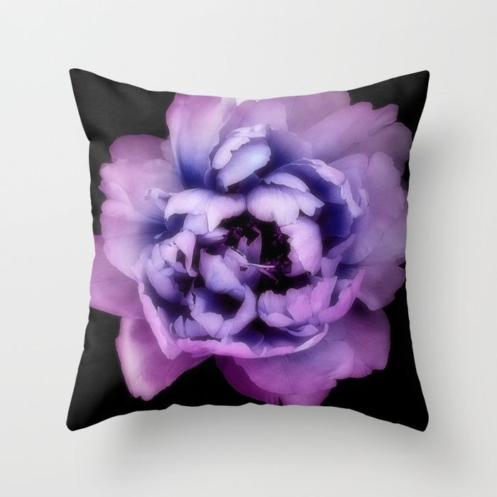Purple Pantone Ultra Violet color of the year 2018. Throw Pillow made from 100% spun polyester poplin fabric, a stylish statement that will liven up any room. Individually cut and sewn by hand, each pillow features a double-sided print and is finished with a concealed zipper for ease of care.  Sold with or without faux down pillow insert.