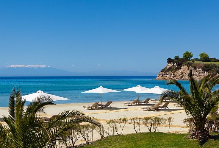 Sani Asterias Beach. Location: Halkidiki, Greece