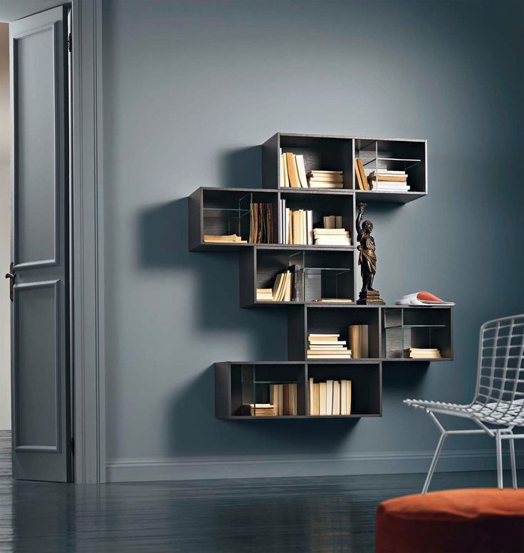 Wonderful Segno Bookcase System I By Sangiacomo, Italy In Grey Oak Veneer.  Manufactured By San