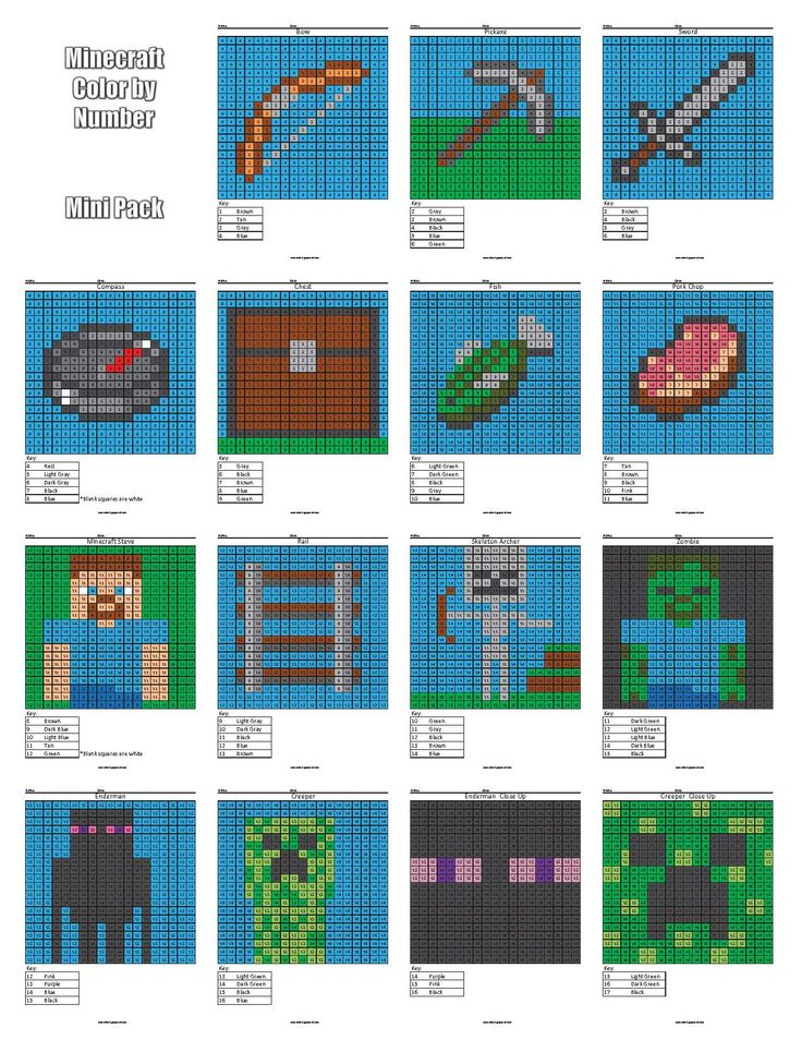 Minecraft Color by Number cover