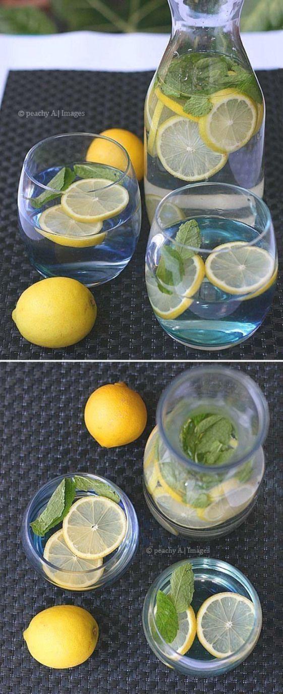 DIY Detox Ideen, die Sie heute ausprobieren sollten – Zitrone und Minze Wasser – DIY Detox zu …   – Detox Drinks To Lose Weight
