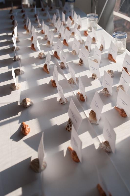 Seashells For Place Card Holders Great Idea A Beach Theme Wedding