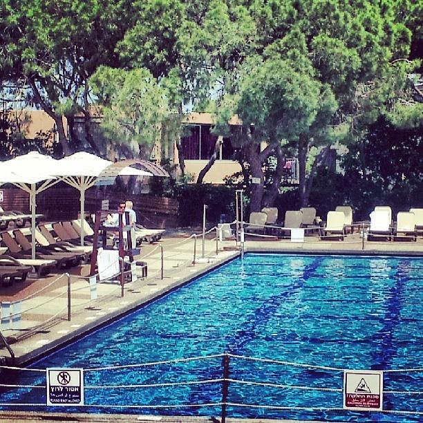 Privacy and luxury by the pool at Dan Carmel Haifa hotel