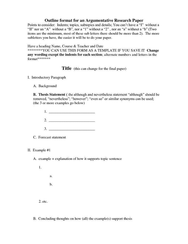 mla outline format