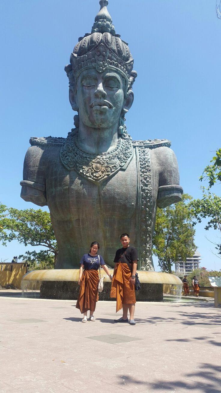 Patung kepala Wisnu. Garuda Wisnu Kencana. Bali #withhusband #honeymoon