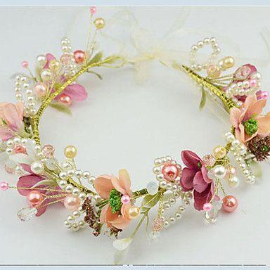 Femme / Jeune bouquetière Imitation de perle / Tissu Casque-Mariage / Occasion spéciale / Décontracté / Extérieur Couronnes 1 Pièce de 5003715 2016 à €23.51