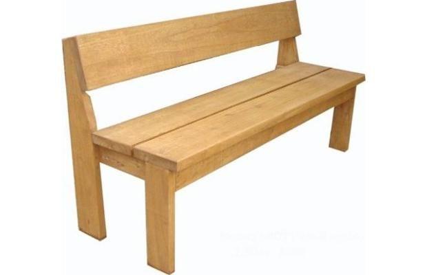 Bancos de madera con respeldo largos mesas pinterest for Bancos zapateros de madera