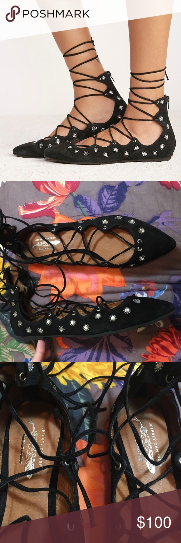 NWOT Jeffrey Campbell for FP Spring Sparkle flats Brand new never worn Free People Shoes Flats & Loafers