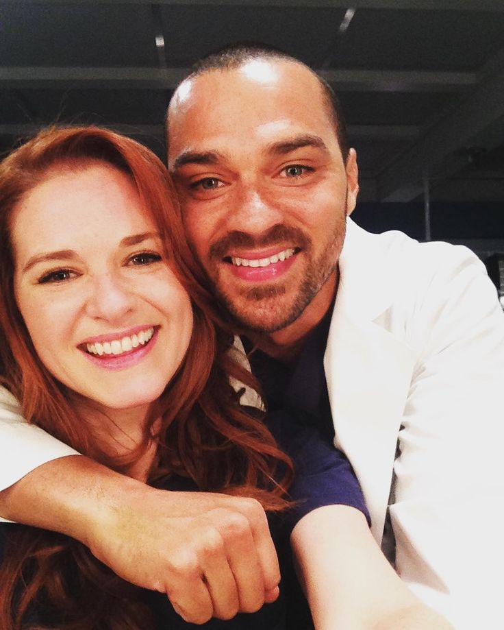 Sarah Drew and Jesse Williams