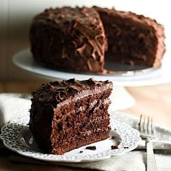 Chocolate Sour Cream Cake from Philadelphia's famous Brown Betty Bakery. This recipe's frosting is THE BEST I've ever eaten. No, really.