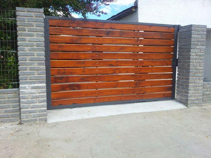 Portones de madera buscar con google ideas para casa for Puertas exteriores baratas