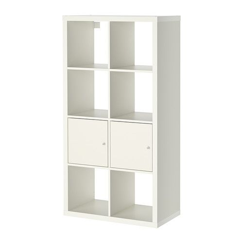 Kallax Shelf Unit With Doors White Guest Bedroom Pinterest