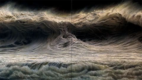 Brooklyn-based artist Ran Ortner paints haunting seascapes
