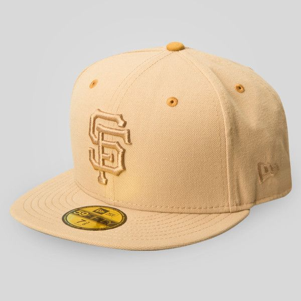 Upper Playground - SF Giants New Era Fitted Cap in Tan/Brown