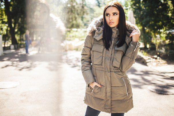 Зимняя куртка пальто Helen хаки