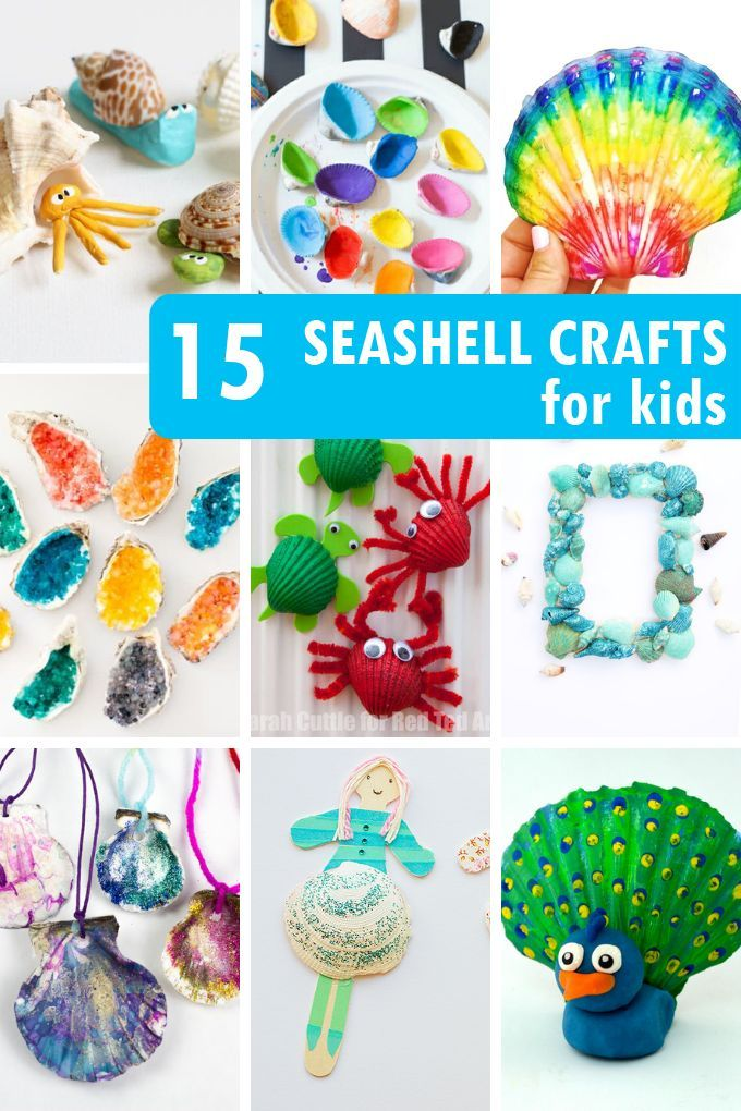 Seashell Crafts For Kids 25 Craft Activities With Shells