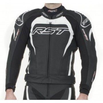 Kurtka RST TRACTECH EVO II white męska   RST TRACTECH EVO II Leather Jacket Man #Motomoda24