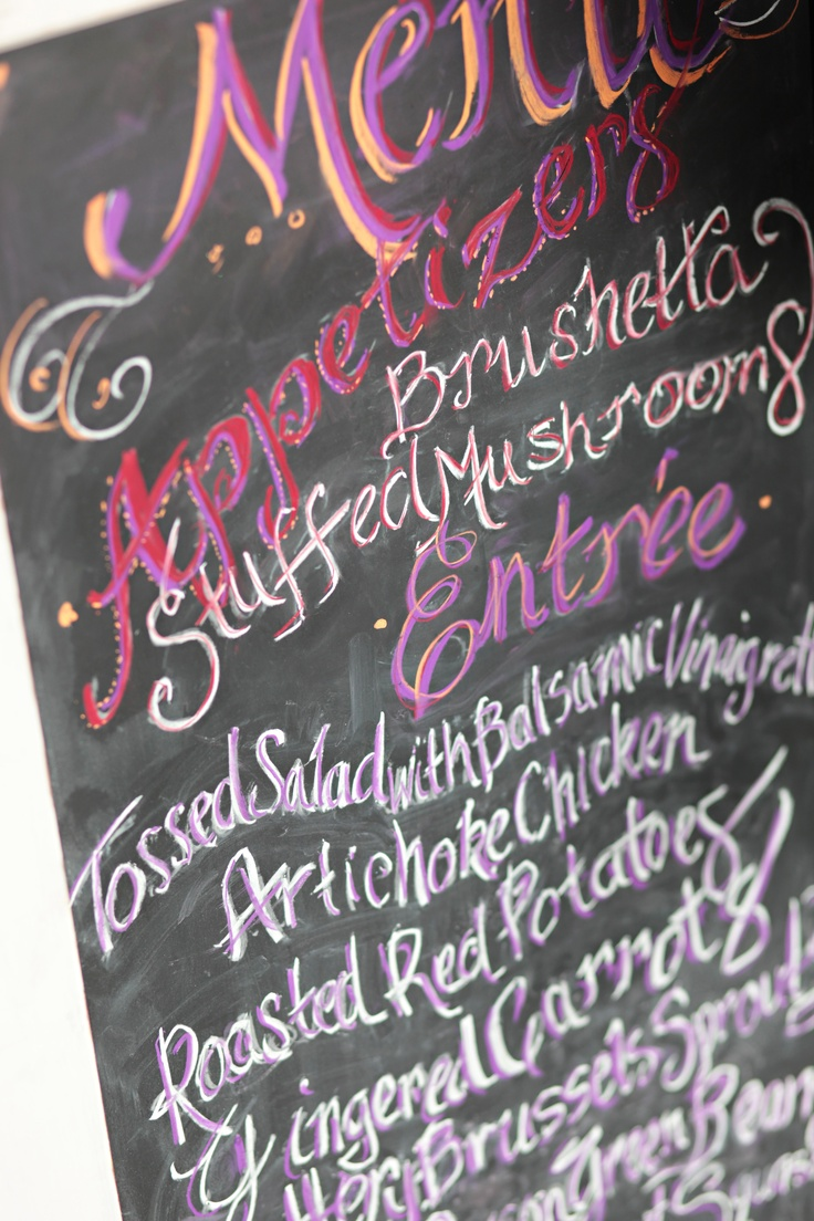 41 best chalkboard menus images on Pinterest | Chalkboard ideas ...