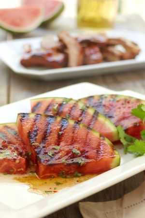 Grilled Spicy Watermelon: Side Dishes, Grilled Spicy, Spicy Watermelon, Balsamic Vinegar, Grilled Food, Thai Inspiration Sauces, Grilled Watermelon, Watermelon Recipes, Transformers Watermelon
