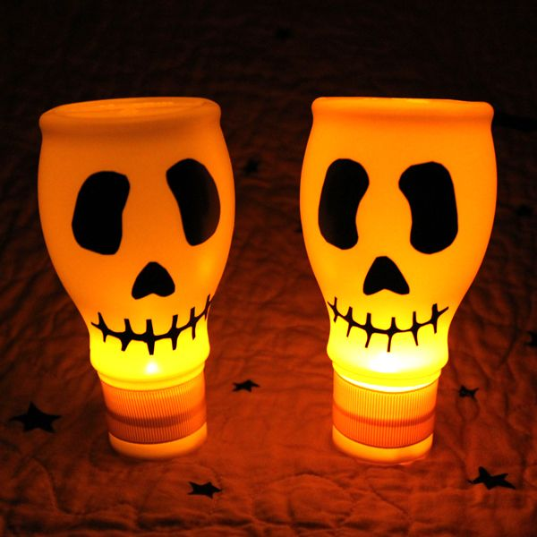 milk jug lighted skulls