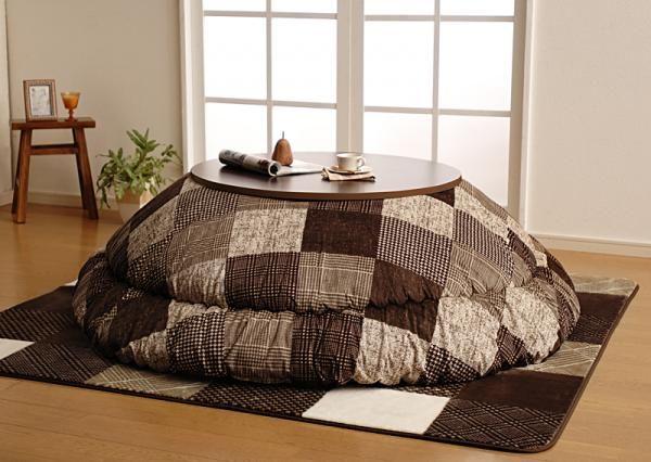 カラー・ブラウン 茶色の家具.com 千鳥格子チェックパッチ柄こたつ掛け敷き布団セット【TIGGI】ティッジのイメージ