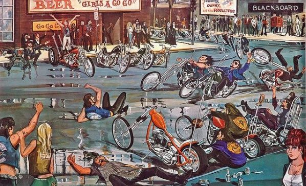 Meet The Outlaws – David Mann's Biker Art ‹ Voices of East Anglia