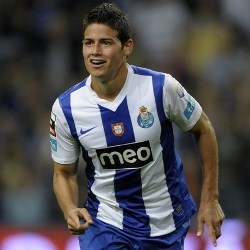 James Rodríguez... Colombian soccer player when he played for Porto (top Portuguese team)