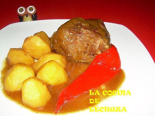 Carne asada con pat. en plato