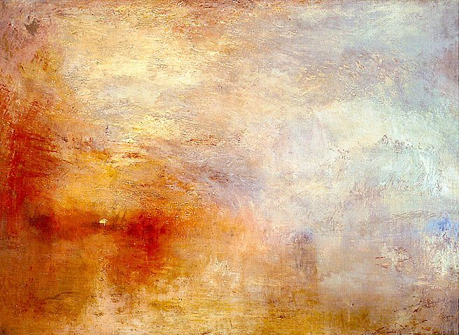 J.M.W. Turner - Sun Setting over a Lake, c. 1840