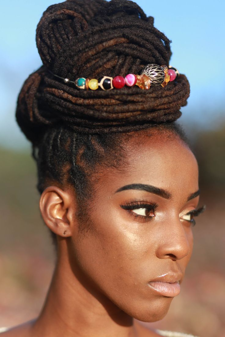 Tiffany's Loc Jewels www.tiffanyslocjewels.com gemstone hairties