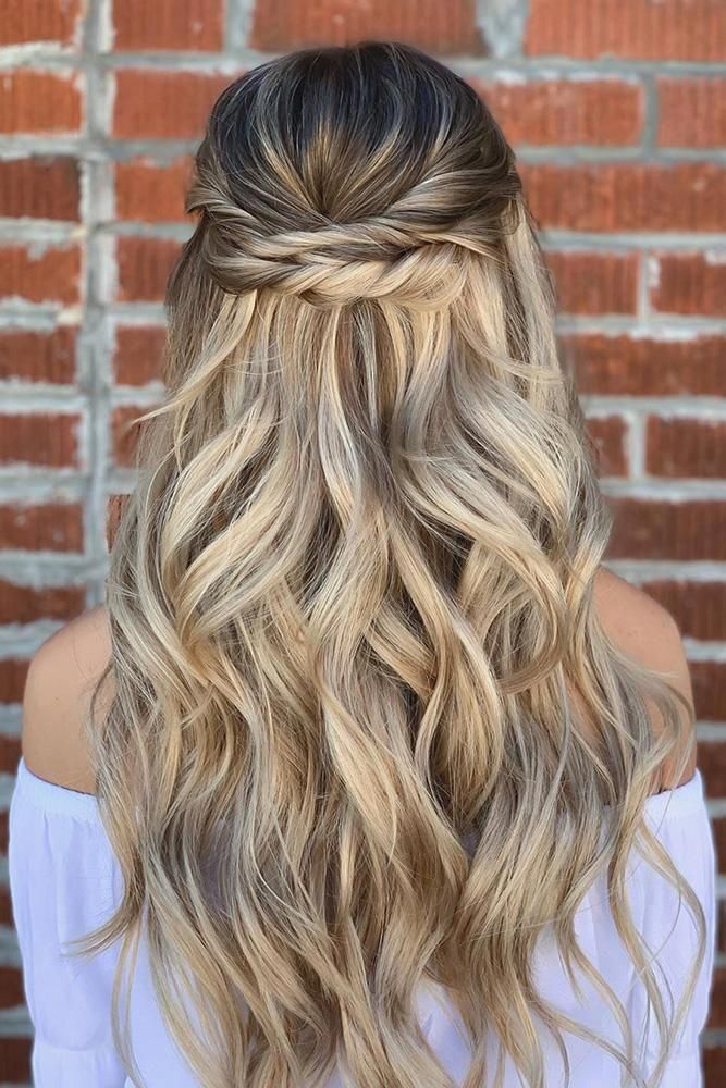42 Half Up Half Down Wedding Hairstyles Ideas Half Up Half Down Wedding Hairstyles Ideas Simple Elegant On Blon Hair Styles Thick Hair Styles Down Hairstyles