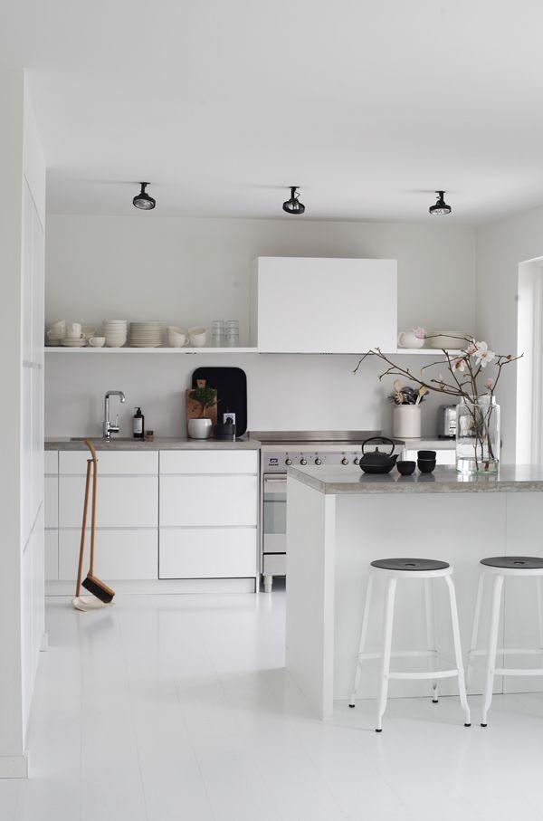Krijtbord Keuken Ikea : over keuken op Pinterest – Witte keukens, Interieur en Beton toonbank